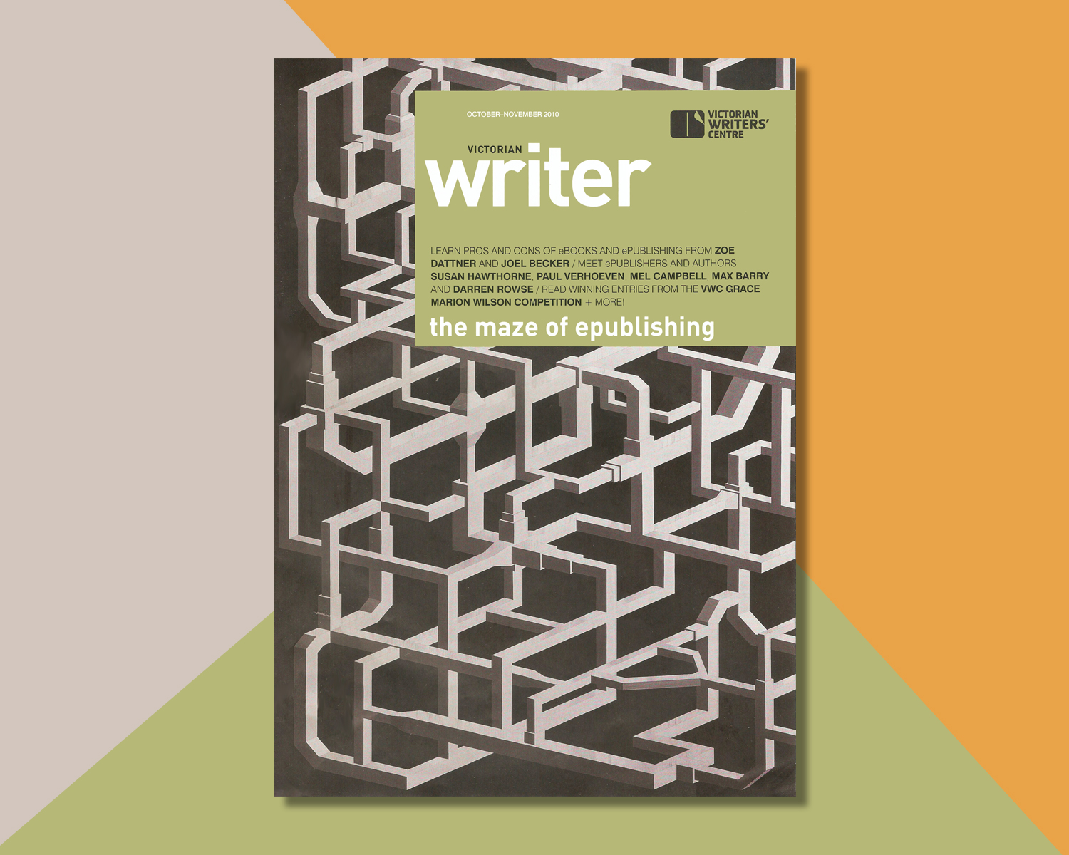 Cover of the Victorian Writer October edition 2010